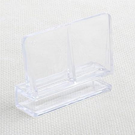 10mm Pssopp 20Pcs Acuario Cubierta de Vidrio Clip Acr/ílico Soporte Soporte Abrazadera Accesorio para Acuario Pecera