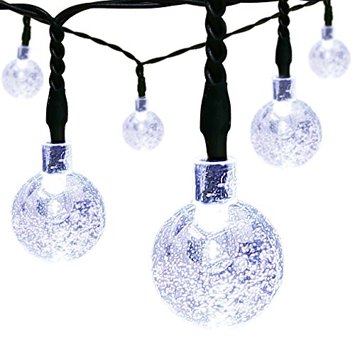 Solar String Lights,easyDecor 30 LED Ball 21ft White 8Mode Waterproof Decorative Globe for Thanksgiving,Indoor,Outdoor,Party,Wedding,Patio,Garden Decoration,Holiday (Outdoor Halloween Decorations Sale)