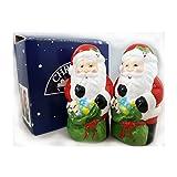 Christmas Village Earthenware Santa Claus Salt & Pepper