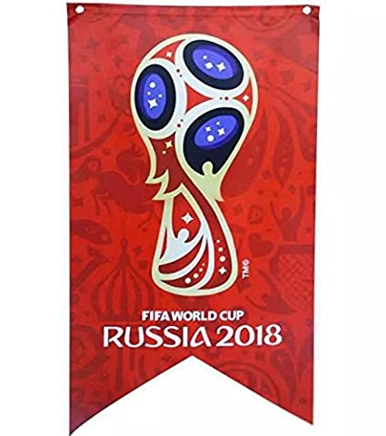 e888261a86f8 ULOOIE 2018 Hot Bar Party Decorations FIFA World Cup Flag Banners Hanging  Emblem Bunting 70x125CM  Amazon.co.uk  Kitchen   Home
