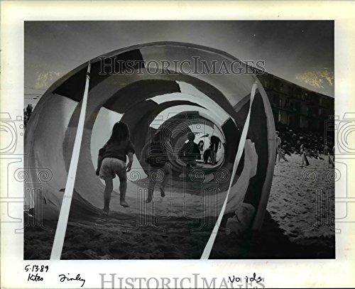 1989 Press Photo Oregon coast-Lincoln City-Sixth Annual Spring Kite - Lincoln Oregon Of Pictures City