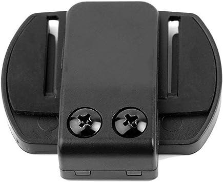 Micr/ófono Altavoz Auricular V4 Negro V6 Interphone Universal Headset Casco Intercom Clip para Dispositivo de Motocicleta