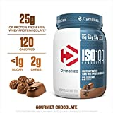 Dymatize ISO100 Hydrolyzed Protein Powder, 100% Whey Isolate Protein, 25g of Protein, 5.5g BCAAs, Gluten Free, Fast Absorbing, Easy Digesting, Gourmet Chocolate, 1.6 Pound