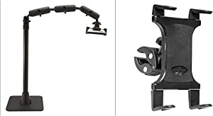 Arkon Pro Phone Stand for Live Streaming Baking Crafting Stamping and Art or Tutorial Videos Black Retail & Clamp Post Tablet Mount Retail Black