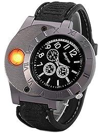 Findtime Men Digital USB Lighter Watch Novelty Windproof
