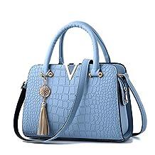 Crocodile Leather Women Bag V Shoulder Crossbody Bags Fringed Women Messenger Bag