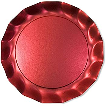 Sophistiplate Satin Red Petal Paper Charger Plates (Pack of 10) Fancy Disposable Dinnerware for  sc 1 st  Amazon.com & Amazon.com: Sophistiplate Satin Red Petal Paper Charger Plates (Pack ...