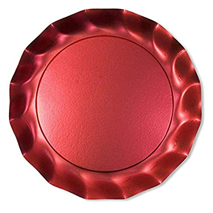 Amazon.com: Sophistiplate Satin Red Petal Paper Charger Plates (Pack ...