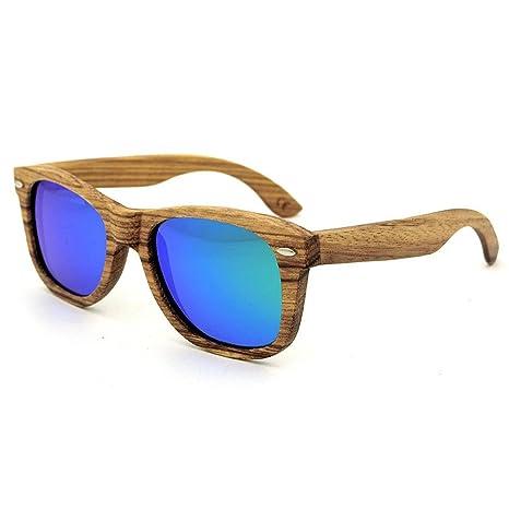 AFCITY Gafas de Sol para Hombres Lentes de Sol de Madera ...