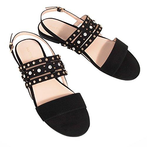 Parfois Studs Sandals - Women Black FbArzn