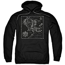 Hoodie: Lord Of The Rings- Middle Earth Map Pullover Hoodie