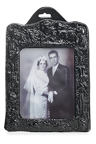 Affordable Halloween Decorations (Holographic Changing Photograph Framed Creepy Vintage Prop Decoration Halloween (Black, gray, white))