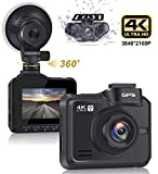 Lifechaser Dual Dash Cam 4K+1080P Front and Rear Car Camera 3840x2160P WiFi GPS Night Vision, 2.4' IPS Screen, 170° Wide Angle, Parking Mode, WDR, Time Lapse, G-Sensor, Loop Recording for Cars, Truck