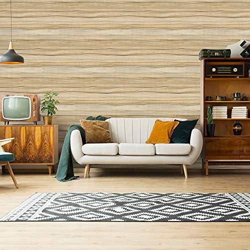 [スポンサー プロダクト]HOMEME 壁紙シール リメイクシート 木目調 DIY 45x600cm 剥がせる 和風 防水 耐熱 防カビ 防汚 接着剤不要