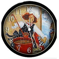 Glow In the Dark Wall Clock - Fat Chef (Woman)