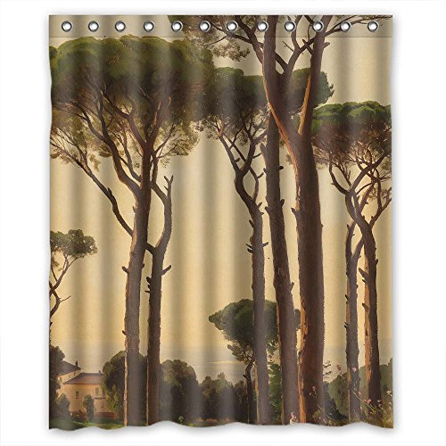 Slimmingpiggy The Beautiful Scenery Landscape Painting Bathroom Curtains Of Polyester Width X Height / 60 X 72 Inches / W H 150 By 180 Cm Decoration Gift For Mother Valentine Husband Boy