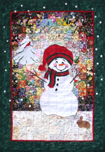 Whims Watercolor Quilt Kits Let it Snowman Quilting ()