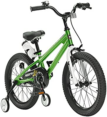 RoyalBaby BMX Freestyle niños bicicleta para niños y niñas, 12-14-16-18 pulgadas, con ruedas de entrenamiento y soporte de parque: Amazon.es: Deportes y aire libre