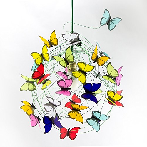 Ceiling lamp with butterflies-Decor Lighting,Kids decor,fun light,colorful light,playroom,Kids Room Decor,Children Room Light,shadow lamp