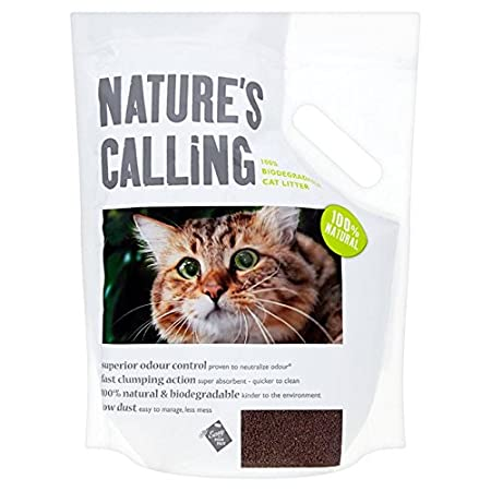 Nature\'s Calling 100% Biodegradable Cat Litter 6kg: Amazon.co.uk ...