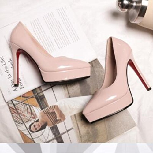 Sandals 7 Women Fashion 5 Leather Pumps 43 High Beautiful Size Heels 34 Shoes Pumps Bright Pink Prom VIVIOO Pointed 12 Toe Centimeter qwxgA5Z1wW
