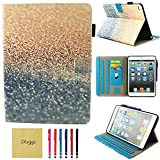 iPad Air Case, iPad Air 2 Case, New iPad 9.7 2018 2017 Case, Dluggs Lightweight Folio Leather Smart Stand Cover with Auto Sleep/Wake for Apple Apple iPad 6th/5th Gen, iPad Air 1/2, Sparkly Sand