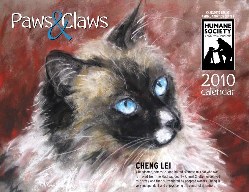 2010 Shelter Animals Calendar--Cats and Dogs--Humane Society of Northwest Montana