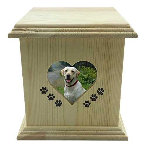 Box Tribute Wooden (YSF Handmade really wood Wooden Pet dog cat Urns Photo Pet Memorial Urn Casket For Ashes Medium SIZE Box.)