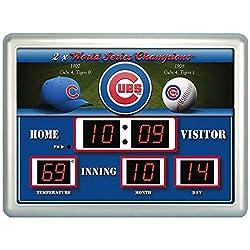 MLB Cubs LED Outdoor /Indoor Scoreboard Clock