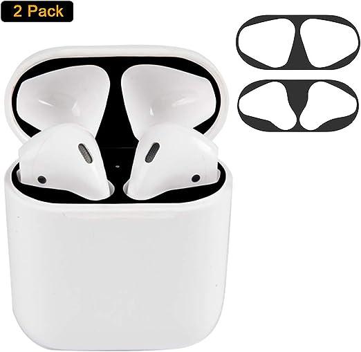 Imagen deNegro Dust Guard el Polvo Guardia Compatible con Apple AirPods2 [Proteger del Hierro y Las virutas de Metal]