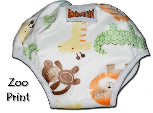 ADJUSTABLE Potty Training Pants/ Trainers/ Resuable & Washable Bamboo Minky One Size by BubuBibi - ZOO