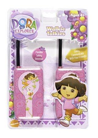 Walkie Talkie Dora - 5Star-TD Dora The Explorer Walkie-Talkie with Flexible Safety Antenna for Girls