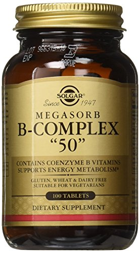 Vitamin B Tablets 50 Complex (Solgar - Megasorb B-Complex
