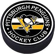 Mustang Pittsburgh Penguins 3D Textured Striped Souvenir Hockey Puck
