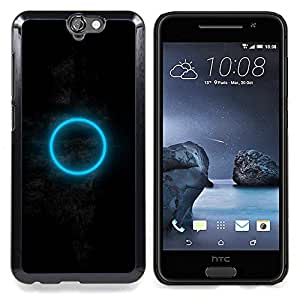 Dark Moon Blue Ring Mysterious Caja protectora de pl??stico duro Dise?¡Àado King Case For HTC ONE A9