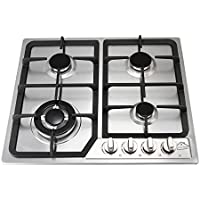 Anmas Home 23 Stainless Steel Battery Ignite 4 Burners Gas Cooktop Built-in NG LPG Gas Hob