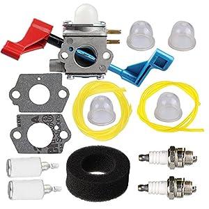 Butom Carburetor with Air Filter Gasket Fuel Line Filter for Zama C1U-W12B C1U-W12A Poulan FL1500 FL1500LE Leaf Blower 530071629