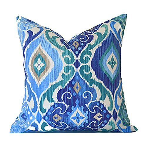 Outdoor Decorative Throw Pillow Cover Any Size OD Fresca Cobalto