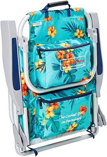 Tommy Bahama Backpack Cooler Chair With Storage Pouch And