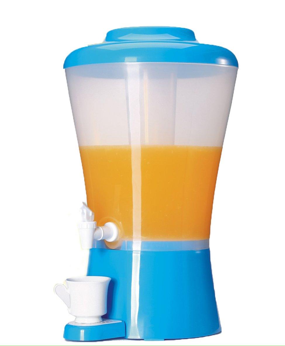 Palais Dinnerware Plastic Beverage Drink Dispenser with Ice Tube (Blue)