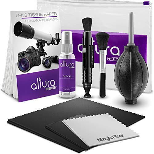 (Altura Photo Professional Cleaning Kit for DSLR Cameras and Sensitive Electronics Bundle with 2oz Altura Photo Spray Lens and LCD)