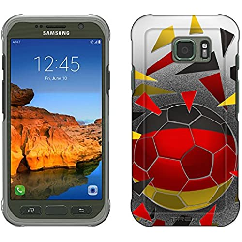 Samsung Galaxy S7 Active Case, Snap On Cover by Trek Soccer Ball Germany Flag Slim Case Sales