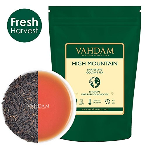 VAHDAM High Mountain Oolong Tea Leaves from Himalayas (50 Cups) - 100% Natural Detox Tea, Weight Loss Tea, Slimming Tea, Oolong Tea for Weight Loss, Loose Leaf Tea, Brew Kombucha Tea, 3.53oz