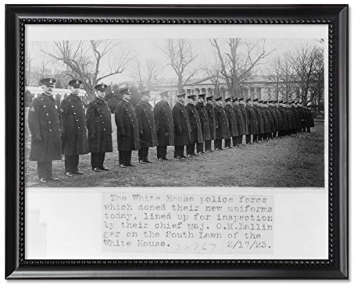 ClassicPix Framed Print 8x10: The White House Police Force Which Doned Sic Their New Uniforms. ()