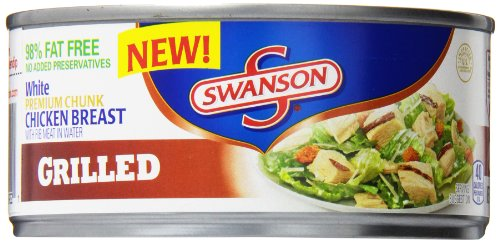 Swanson White Premium Chunk Chicken Breast, Grilled, 9.75 Ounce