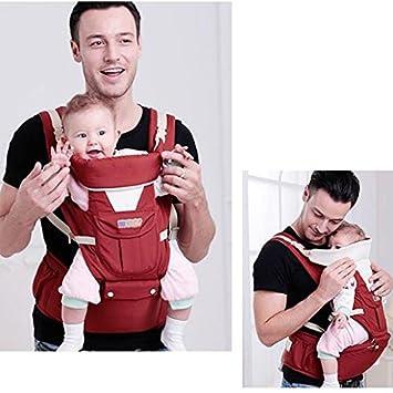 AIBAB Mochilas Portabebés Baby Carrier Correa Taburete De Cintura Transpirable Diseño Ergonómico Hombro Transpirable Conveniente para Todas Las Estaciones ...