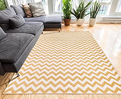 Harbor Trellis Yellow Quatrefoil Geometric Modern Casual Door Mat Easy to Clean Stain Fade Resistant Shed Free Contemporary Traditional Moroccan Lattice Soft Living Dining Room Rug