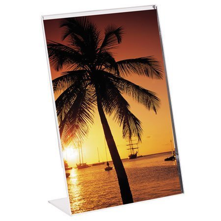 5x7 Vertical Acrylic L Shape Easel Picture Frames - Pack of 12