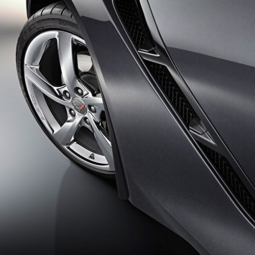 Performance Corvettes Corvette C7 Stingray OEM GM Front Fender Molded Splash Guards Black