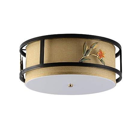 Clásico Chino Hueco Diseño Lámpara De Techo, Led Flor Diseño ...